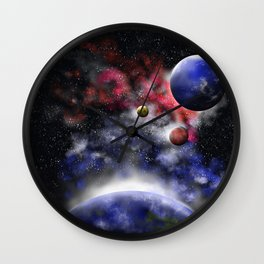 GalaXa background Wall Clock