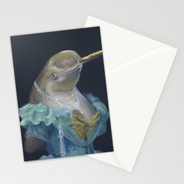 MADAME NARWHAL, by Frank-Joseph Stationery Cards