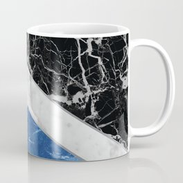 Stone Arrow Pattern - Black, White & Blue Marble #227 Coffee Mug