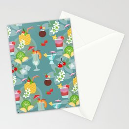 Blue Hawaii Cocktail Hour Stationery Cards