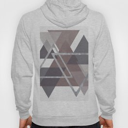 Gray and Pink Triangles Hoody