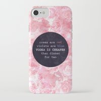 vodka iPhone & iPod Cases featuring VODKA IS CHEAPER by Wis Marvin