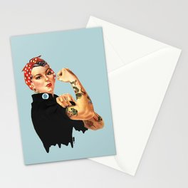 Tattooed Rosie the Riveter Stationery Cards