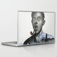 magritte Laptop & iPad Skins featuring Magritte by Regina Jean