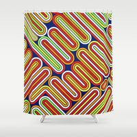 70s Shower Curtains featuring 70s Kitsch by Roberlan Borges