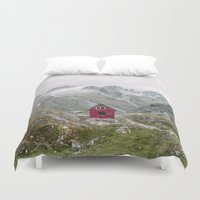 mint Duvet Covers featuring Mint Hut by Kevin Russ