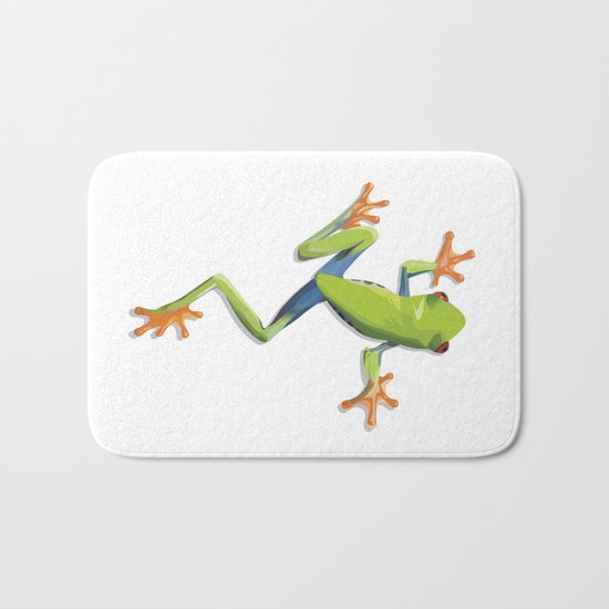 Greenery tree-frog Bath Mat
