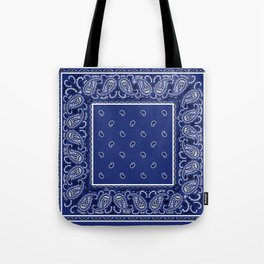 Classic Royal Blue Bandana Tote Bag