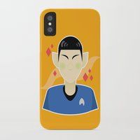spock iPhone & iPod Cases featuring spock by monsternist