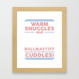 Bullmastiff Ugly Christmas SweatersBullmastiff Ugly Christmas Sweaters Framed Art Print