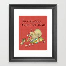 Navidad Framed Art Print