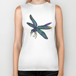 Pretty Fly For A Dragonfly Biker Tank