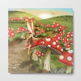Toadstool Painting Metal Print