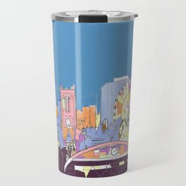 Manchester Skyline Opera House Hilton Hotel Railway City Town Hall England GB UK Travel Mug