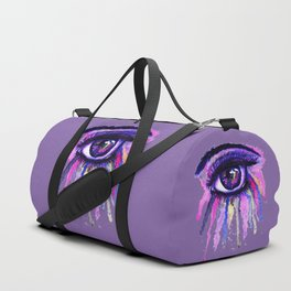 Rainbow anime eye Duffle Bag