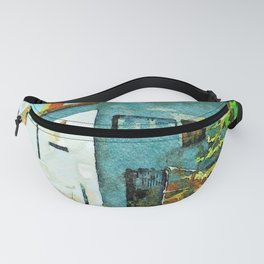 Blue house Fanny Pack