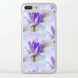 flowers -1- seamless pattern Clear iPhone Case