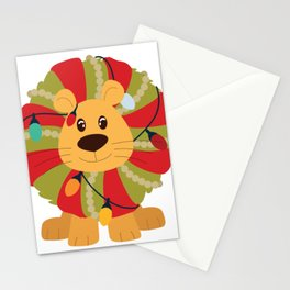Your Big Cat in Decorative Christmas Wreath Stationery Cards