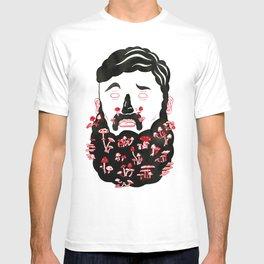 Mushroom Beard Dude T-shirt
