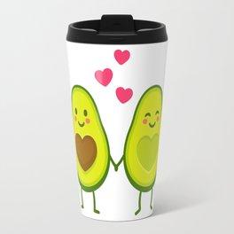 Cute avocados in love Travel Mug