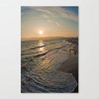 santa monica Canvas Prints featuring Santa Monica by Nikole Lynn Photography