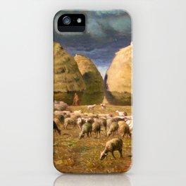 Haystacks, Autumn - Digital Remastered Edition iPhone Case
