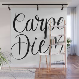 Carpe Diem Hand Lettering Wall Mural