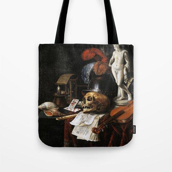 Vintage Vanitas- Still Life with Skull 3 Tote Bag