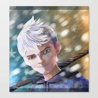 jack frost Canvas Prints featuring Jack Frost by Elisehill3