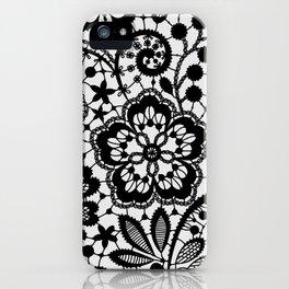 Black Lace. Pattern. iPhone Case