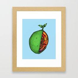 Pinfeather Skew Framed Art Print