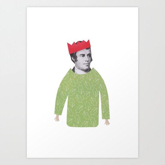 The embarrassing Christmas Jumper Art Print