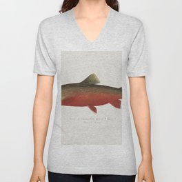 Canadian Red Trout illustrated by Sherman F Denton (1856-1937) from Game Birds and Fishes of North A Unisex V-Neck