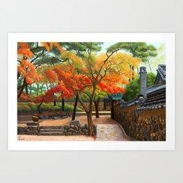 Backyard Orchard Art Print