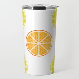 Orange and lemon fruit slices Travel Mug