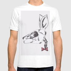 francine the rabbit queen. MEDIUM White Mens Fitted Tee