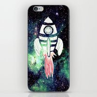 spaceship iPhone & iPod Skins featuring Spaceship by Cs025