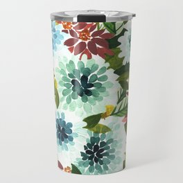 Blue Floral Travel Mug