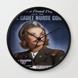 Vintage poster - U.S. Cadet Nurse Corps Wall Clock