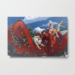 Santa after work Metal Print