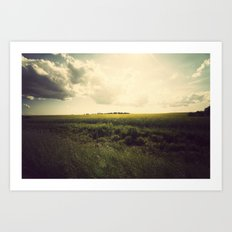 If you spend your whole life waiting for the storm, you'll never enjoy the sunshine Art Print
