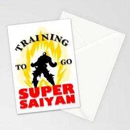 Training to go SUPER SAIYAN Stationery Cards