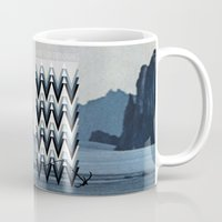 never stop exploring Mugs featuring Never stop exploring by Hannah Kay Piché