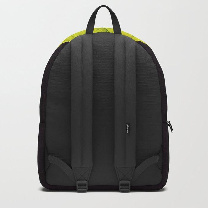 Green Leaf On A Black Background #society6 #decor #buyart Backpack