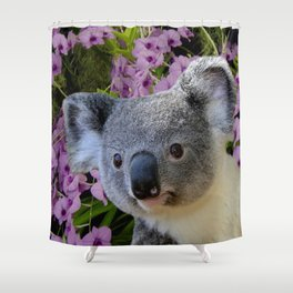 Koala and Orchids Shower Curtain