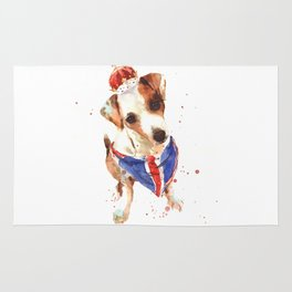 LONDON - Jack Russell Art - Union Jack Rug