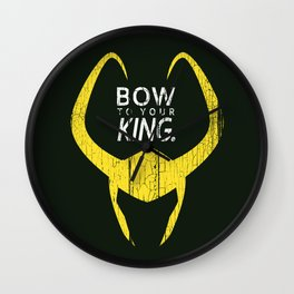 Bow to Your King Wall Clock