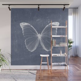 Butterfly in blue Wall Mural