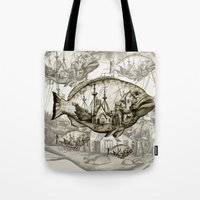 fish Tote Bags featuring fish by Кaterina Кalinich