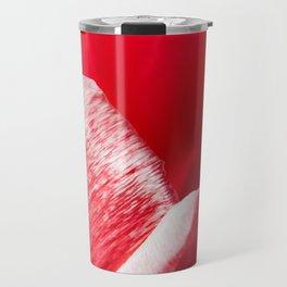 Pink Tulip Closeup Photography Print Travel Mug